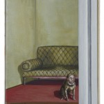 das Sofa, Acryl auf Leinwand, 30x40cm