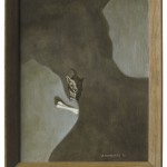 die Bedrohung2, Acryl auf Leinwand/mdF, 36x45cm (VERKAUFT)