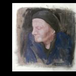 Elvira Skizze, Acryl auf Leinwand, 30x30cm