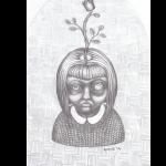 Rosenprinzessin, Bleistift auf Papier