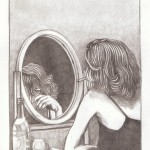 Spiegelbild, Bleistift auf Papier