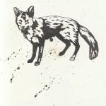 Fuchs, Tusche auf Papier (VERKAUFT)