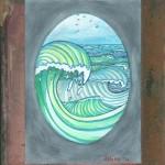 Wellen, Aquarell auf Papier (VERKAUFT)