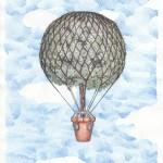 Ballon, Bleistift und Tinte auf Papier, 20,7cm x 29,5cm