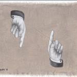 Hinweis15, Acryl auf Leinen, 25cm x 20cm