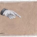 Hinweis16, Acryl auf Leinen, 25cm x 20cm