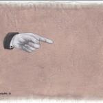 Hinweis2, Acryl auf Leinen, 25cm x 20cm