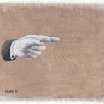 Hinweis4, Acryl auf Leinen, 25cm x 20cm