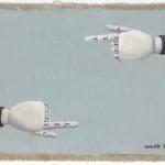 Hinweis5, Acryl auf Leinen, 25cm x 20cm