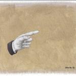 Hinweis6, Acryl auf Leinen, 25cm x 20cm