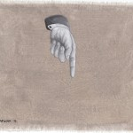 Hinweis8, Acryl auf Leinen, 25cm x 20cm