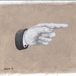 Hinweis9, Acryl auf Leinen, 25cm x 20cm