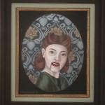 Tapetenbild 1, Acryl auf Leinen (aufkaschiert), 21,5cm x 26,5cm