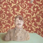 Tapetenbild 3, Acryl auf Leinen (aufkaschiert), 40cm x 60cm (VERKAUFT)
