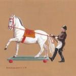 """""""Spanische Hofreitschule"""" Teil 3, Acryl auf Holz, B30H20cm (verkauft)"""