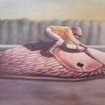 """""""der Weg ist das Ziel"""", Acryl auf Holz, B50H28cm (VERKAUFT)"""
