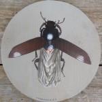 """sweet dreams"", Acryl auf Holz, Durchmesser ca. 25cm (VERKAUFT)"